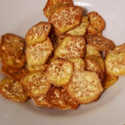 Snack batatas doces no forno