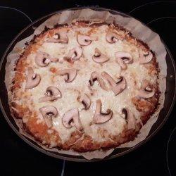 Pizza com base de couve-flor