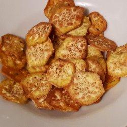 Snack de batata doce no forno