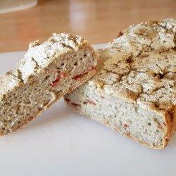 Pão com tirinhas de chouriço - interior